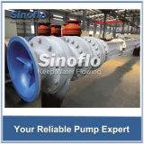 긴 샤프트에 의하여 돌출되는 수직 터빈 집수 배수장치 또는 탈수 펌프