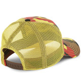 Cappello al neon su ordinazione della maglia del camionista di Camo con la zona ricamata