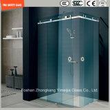 Moldura de aço inoxidável ajustável 6-12 Vidro temperado deslizando chuveiro simples, chuveiro, cabine de duche, banheiro