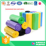 Sacos de lixo de lixo descartáveis de plástico com etiqueta de papel