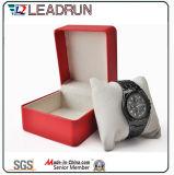 Caja de embalaje de empaquetado de la visualización del regalo del embalaje del reloj del caso del almacenaje del reloj del papel de cuero del terciopelo del rectángulo del reloj de madera (YS197B)
