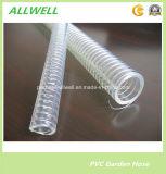 Boyau industriel spiralé en plastique de pipe d'irrigation de l'eau de boyau de conduit de fil d'acier de PVC