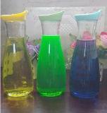 Frascos de vidro para o suco de Furit com tampa plástica, frascos de vidro de leite para o leite, alimento
