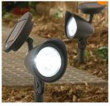 Proyector solar del jardín del sensor 3 LED de la hora solar para la iluminación del camino o del árbol