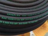 Boyau hydraulique de fil d'acier de SAE R17 de tresse de Hosestandard de tresse hydraulique normale de fil d'acier