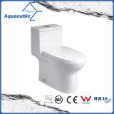 Toilette en céramique affleurante duelle de Siphonic dans le blanc (ACT9324)