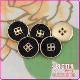 4 fori Black Enamel, Plastic Buttons con Gold Base