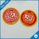 Ronda personalizada Self-Adhesive Badge /Velcros/ Ferro em Bordados Patch para o vestuário/HAT