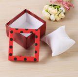 Boîte-cadeau créatrice de Noël de type neuf avec le guichet, beau cadre de bijou de papier, cadre de montre