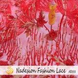 Tessuto elegante del merletto di disegno moderno 3D/merletto netto di Tulle bello fiore 3D