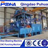Le souffle d'injection le plus neuf de plaque en acier de la série Q69 nettoient la machine/dispositif fulminant de roue pour la pipe en acier/Derusting extérieur