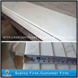 Полированный дешевые Гуанси белые мраморные плитки на лестницу и панели порога