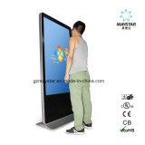 El soporte de suelo comercial Monitor LED de interior de la pantalla Pantalla LCD de publicidad