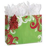 Kraft 선물 부대, 포일은 폴카 점 디자인 선물 부대, 자필 종이 봉지를 최신 각인한다