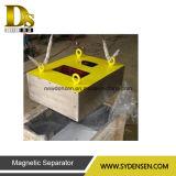 Suspendido el separador de imán permanente de la placa tipo