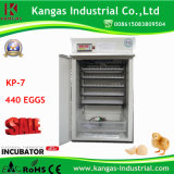 Incubateur complètement automatique d'oeufs de poulet pour 440 oeufs/incubateur commercial