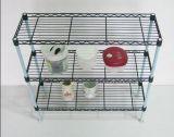 Cremalheira de especiaria do fio da cozinha do metal colorido moderno mini, estilo de DIY (LD602060C3E)