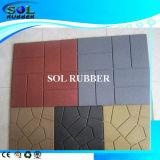 セリウムによって証明される屋外のテラスの床のペーバーのゴムタイル