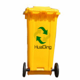 Plastiksortierfach-Gummirad-Abfalleimer des abfall-120L für im FreienHD2wnp120b-Y