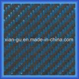 Tissu bleu d'hybride de fibre de carbone de PARA Aramid