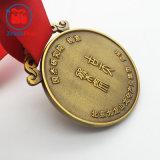 medaglia d'ottone antica del ricordo di placcatura 3D