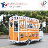 Carro comercial móvel do alimento do carro de jantar do alimento