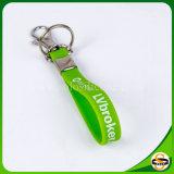 Bestes Verkaufs-Silikon Keychain mit gedrucktem Firmenzeichen