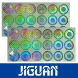 最上質レーザーの銀製の付着力の反偽造品3Dのホログラムのステッカー