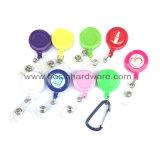 Freie PlastikCarabiner Abzuglinie-Abzeichen-Halter-Abzeichen-Bandspule