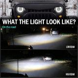 Farol Baixo Alto DRL Ronda Diurna 7 Polegada Angel olhos RGB LED farol para passeios de jipe