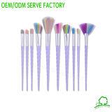 Cepillos del cosmético de Concealer de la fundación del labio del sombreador de ojos del conjunto de cepillo del maquillaje con almacenaje