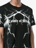 T-shirt de bonne qualité d'impression de noir de Mens de mode neuve