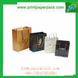 Le sac de papier de luxe et sensible de cadeau a personnalisé le sac de parfum estampé par logo fait sur commande de sac à provisions de sac de bijou avec le traitement personnalisé