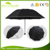 최신 판매 설명서는 기울이기를 가진 3개의 겹 우산을 연다