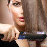Fer plat électrique de balai de redresseur de cheveu de vapeur d'affichage numérique du professionnel DEL Avec le peigne pour dénommer de cheveu