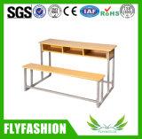 Escritorio y silla combinados de madera de la escuela de la manera para tres personas (SF-40D)