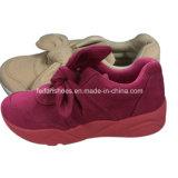 高品質の女性のキャンバスの注入は蹄鉄を打つ偶然の履物の靴(YJ1216-6)に