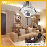 360 tube encastré rotatoire de plafond de l'ÉPI de degré 13W DEL