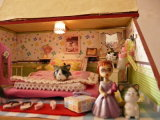 Дома мебелей дома куклы DIY комната деревянной живущий с игрушками образования