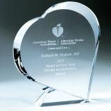 Современный дизайн премию Crystal трофей трофей Crystal в форме сердца