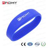 Braccialetto di gomma del Wristband poco costoso RFID del silicone di Rewearable