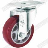 Rodízios industriais do dever médio vermelho da roda do poliuretano (vermelhos)