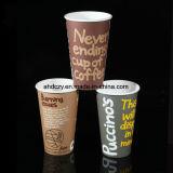 Cuvette de café de papier à mur unique soloe de l'impression 9oz de Flexo pour le boire