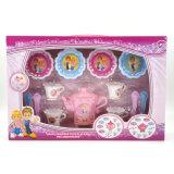 부엌 아이들 장난감의 교육 분홍색 찻주전자 세트를 가장하십시오