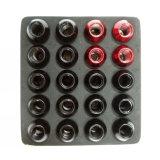 Noix 12X1.5 de cosse de noix de roue de chrome de bombement de gland