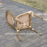 Cadeira francesa de alumínio sem braços do café do Rattan dos restaurantes (SP-OC519)