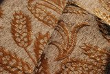 Chenille floreale beige con il rivestimento (FTH31193)