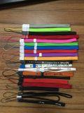 Het zwarte Sleutelkoord van de Riem van de Pols van de Hand van de Polyester Tubulaire voor de Telefoon PSP Wii USB van de Cel van de Camera en Andere Elektronische Apparaten