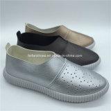Hotsale Frauen-beiläufige Einspritzung bereift flaches Schuhe Soem (GJ1710-5)