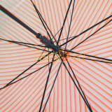 برتقاليّ لون شريط تصميم [بو] مظلة, مظلة مستقيمة, مظلة شفّافة